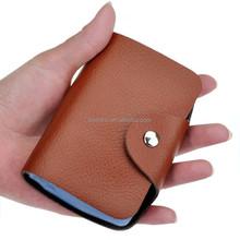 Leather ID/ATM card namecard holder pocket credit leather business card case