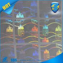 Custom design transparent hologram on cards/scratch off hologram security sticker