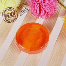 best design transparent organic round disposable hotel soap