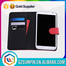 credit card holder leather flip cover case for samsung galaxy note 2