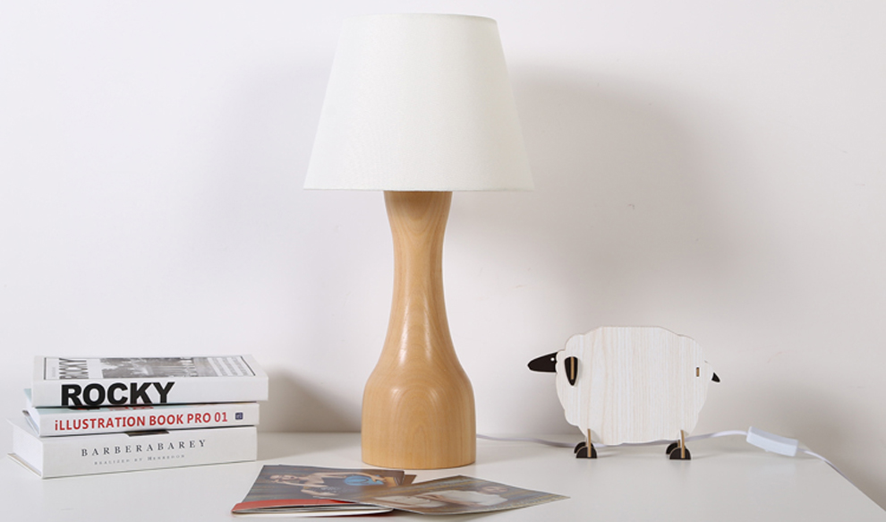 Wholesale Contemporary carving wood decorative table lamp ...