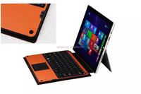 12' bluetooth qwerty keyboard leather protective case for microsoft surface pro tablet