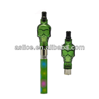 Aslice skull atomizer ego vaporizer for wax and tobacco