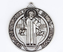 Religious Jewelry charm for Catholics & Christians,alloy saint medals tags with Jesus carved