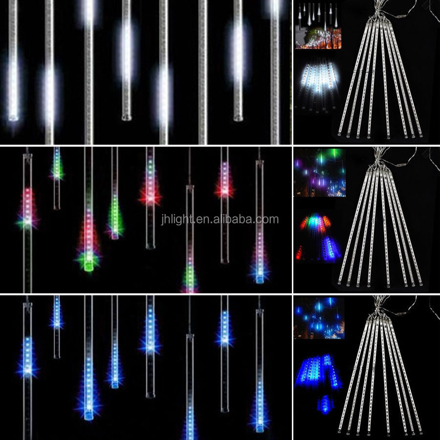 Led Icicle String Lights With Ice Drop : Rain Drop Christmas Lights,Meteor Shower Falling Star/rain Drop/icicle Snow Fall Led Xmas Tree ...