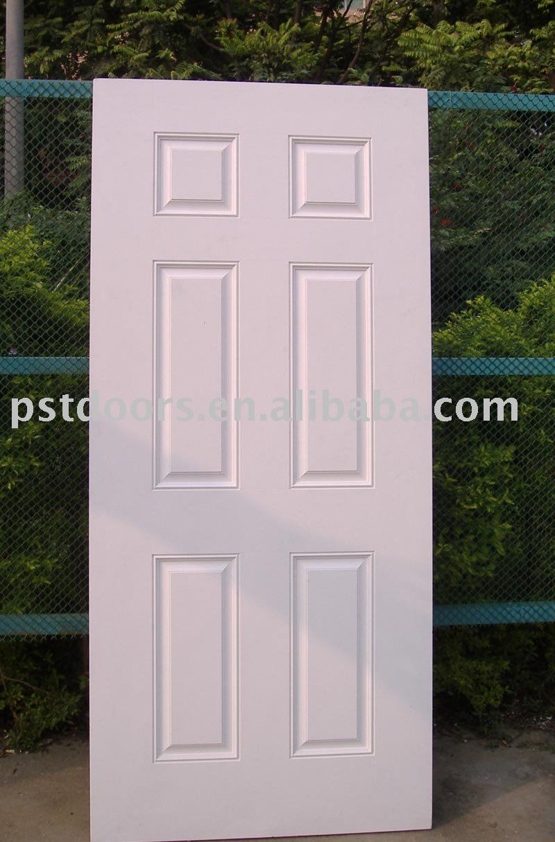 6 panel steel door slab wooden edge steel door entry door for Exterior door slab