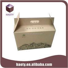 wholesale custom cardboard box foldable cardboard box with rope handle