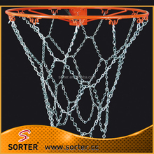 single hook chains used to basketball net
