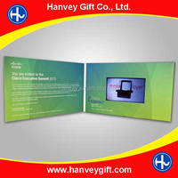 4.3 inch customized video brochure/video greeting card with lcd screen for business advertising/promotion