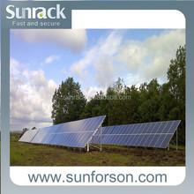 Q235 ground screw solar power mount structure for panel installation