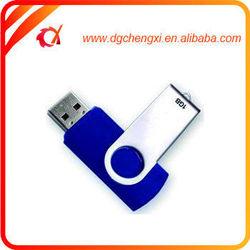 Blue and Metal Swivel 512gb Usb Flash Drives