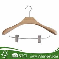 LH194 Lotus wood vintage wooden coat hanger stand with pearl nickel hardware