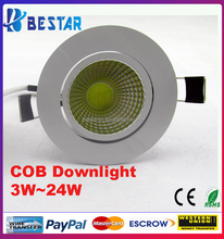 Warm White LED Downlights, 12W LED Downlight COB dimmable 60 degree beam angle CE RoHS
