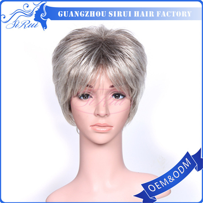 Wig,Two Tone Wigs For Black Women,Sunnymay Wigs - Buy Mixed Grey Wig ...