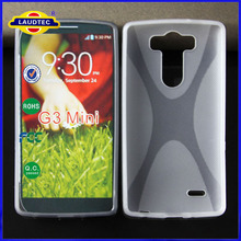 New for LG G3 Mini Ultra Slim Soft Gel Skin X Line Wave TPU Case Cover Mobile Accessories Made in China Laudtec