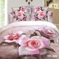 Romantic 3D bedding set with Lovely Pink Roses