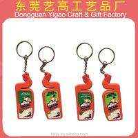 Factory custom magnetic keychain / PVC custom magnetic key ring