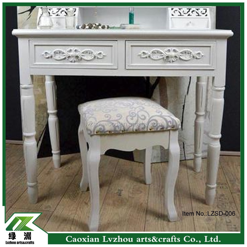 French Style Furniture Dresser White Dressing Table White Bedroom