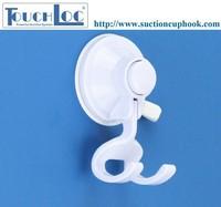 InterDesign plastic double hooks door hooks with white color