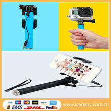 trending hot products 2015 Icanany wholesale character Supreme Mini Sports Wired Selfie Stick Just As Pen Size