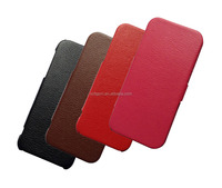 good quality microfiber leather mobile phone flip case for iphone 5 5s 5c