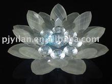 Preciosa de cristal flor de loto, cristal flor de loto candelero