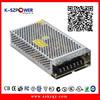 2015 K-60 150w series ygy power 12v 12.5a 24v 6a led driver power supply 12v &24v with CE UL listed