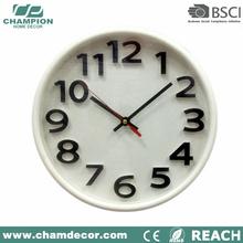 2015 new custom china Basic plastic quatrz analog wall clock with logo