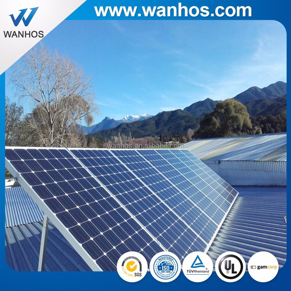 Panneaux solaires ajustables pour toit plat