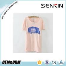 O-neck T shirt wholesale China women t shirts water Printed for Car OEM