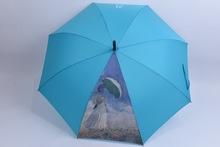 Oil printing photographic and bird head handle umbrella