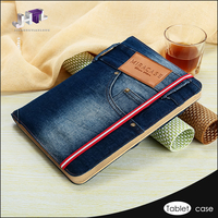 Jeans Style Universal Leather Case Luxury Tablet