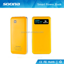 Soona universal external portable mobile power bank USB battery charger for cell phone