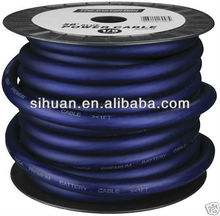 soft blue 0 gauge /awg car power wire