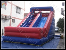 Red inflatable slide , cheap inflatable slides for sale, children play inflatable slide