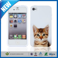 C&T Wholesale Cute Cartoon Cat Animal Silicone Case Cover for iPhone 4 4S