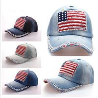 Fashion yankees baseball cap with american flag