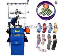 Fully computerized sock knitting machine