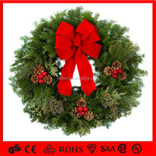 artificial christmas wreath lights