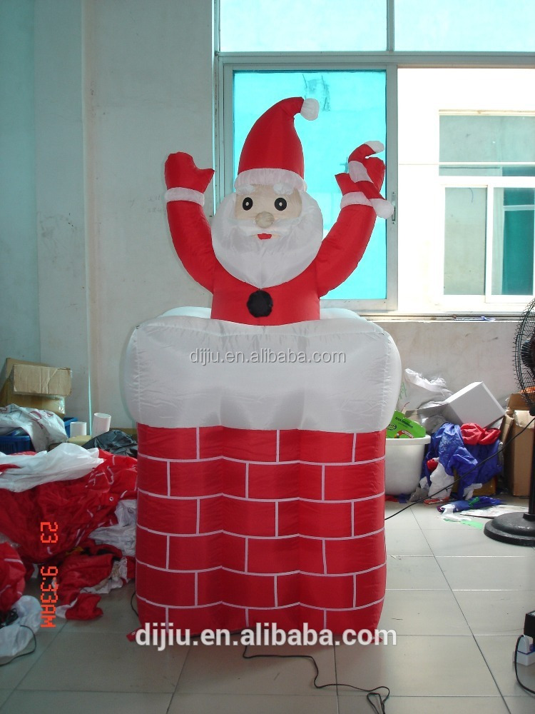 Airblown inflatable lighted ft santa claus up and down