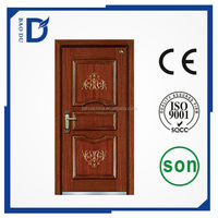 2015 newest steel wooden armored door cheap fire rated steel wooden armored doors exterior steel wooden armored doors