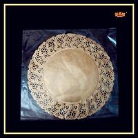Golden disposable bulk round gold placemats