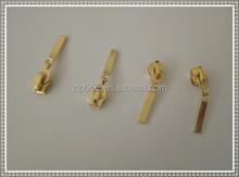 2015 hot sales fancy no.3# 4# 5# metal zipper gold auto lock slider use for germent