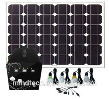 60W Solar Controller Power System with LED Lighting and Mobile Charger