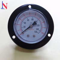 Customized utility dry all balck steel with flange pressure gauge