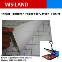 Inkjet transfer paper for dark T-shirt