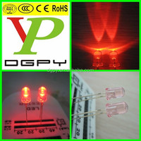 China Factory 2015 Newest 5mm red led diode with pink lens ( CE & RoHS Compliant )