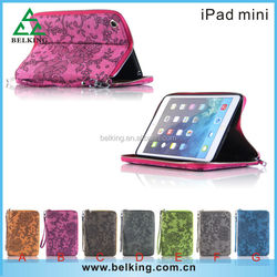 Elegant Flower Printed Tablet Hand Bag For Apple iPad Mini