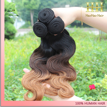 alibaba express 20 inch three toned ombre body wave brazilian hair weave blonde and brown