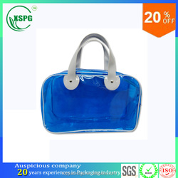 specially customized vinyl clear pvc waterproof tote bag with handle